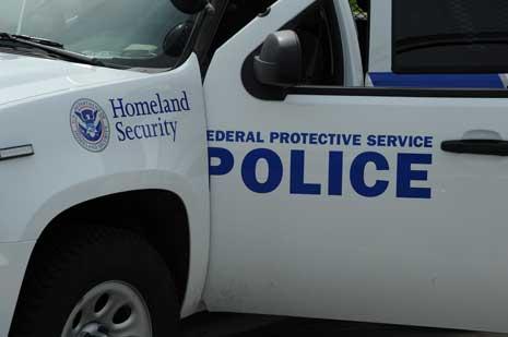 Homeland security police car