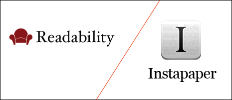 Readability and Instapaper logos