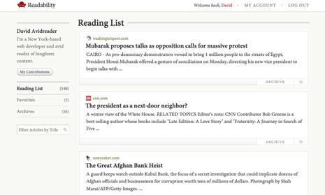 Readability readinglist