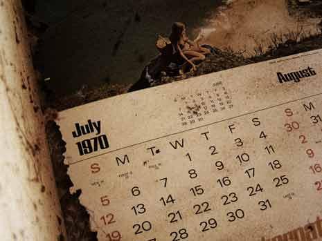 Calendar from July 1970