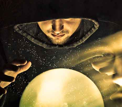 Wizard and crystal ball