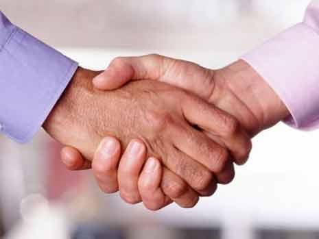 Closeup of a handshake