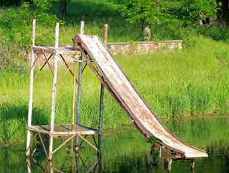 Rusted water slide