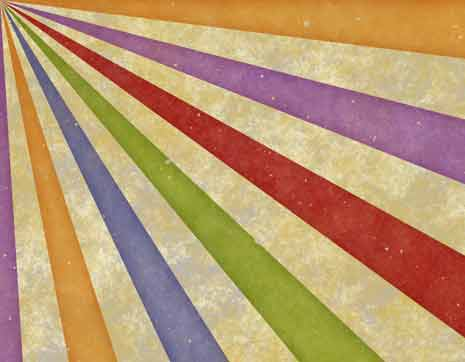 Background of colored stripes in a sun ray pattern