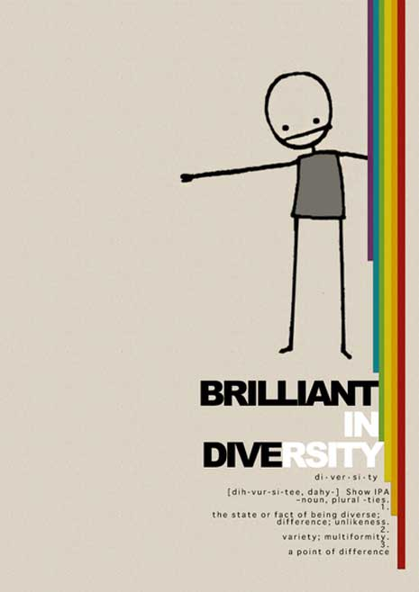 Poster to express we're brilliant in diversity