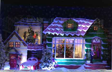 Macys store window Christmas display