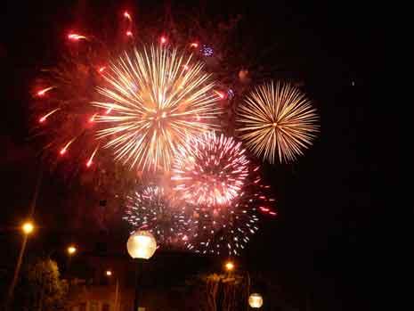 New Year's eve fireworks over Sydney, Australia