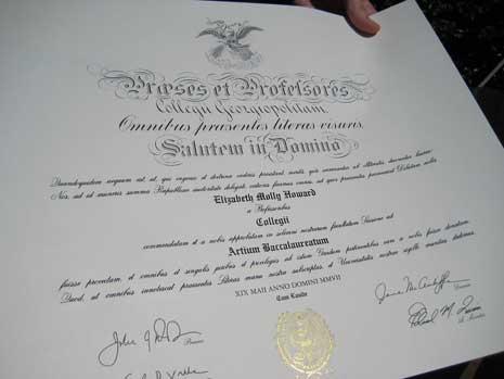 Georgetown Diploma