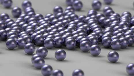 Random ball bearings shown through depth of field