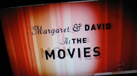 Theatre curtain for Margaret and David, At The Movies