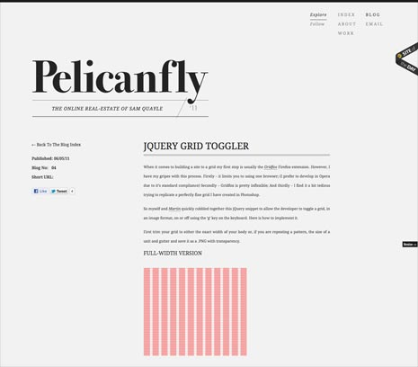 Screenshot of a blog post from the Pelican Fly website