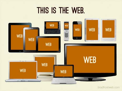 This is the web. Desktops, latptops, tablets, and smart phones in a variety of sizes.