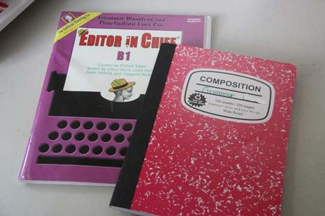 Editing workbook and composition notebook