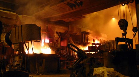 Forge at the Finkl steel mill in Chicago