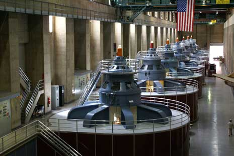 Generators inside the Hoover Dam