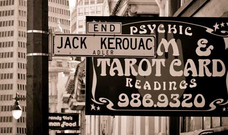 Jack Keouac Alley street sign in San Francisco