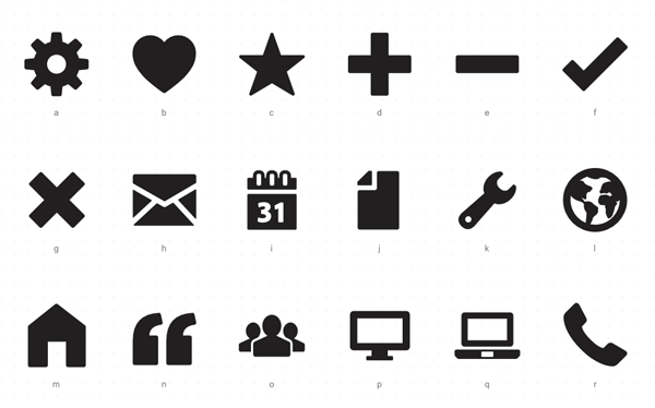 Foundation icon fonts fromZurb