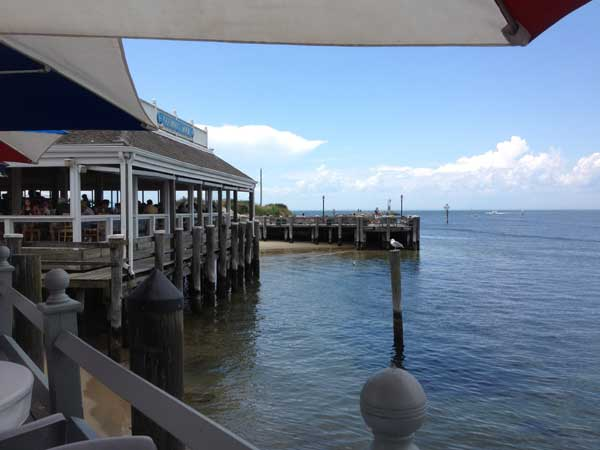 View from our table at Gosman's Dock