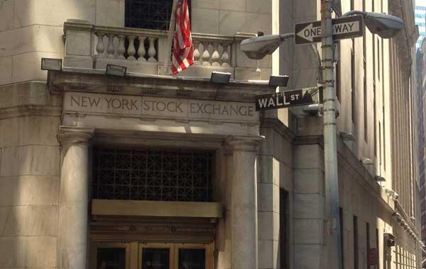 Entrance to New York Stock Exchange