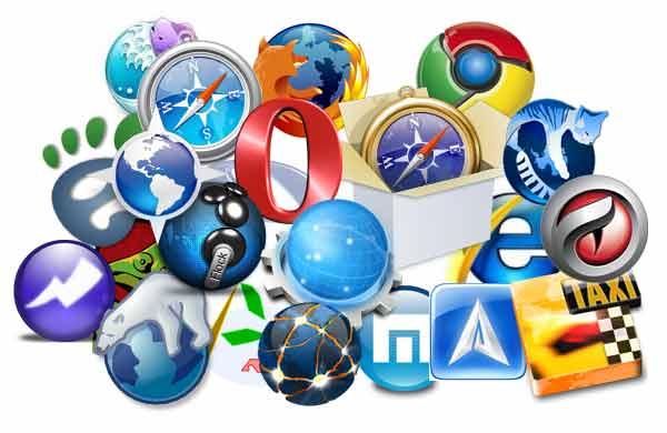 Collage of browser logos