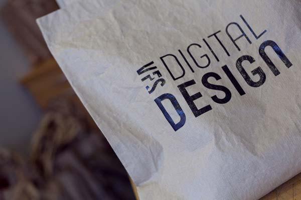 VFS Digital Design printed on cloth paper