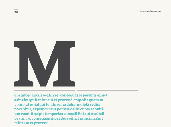 A big letter 'M' from FF More font