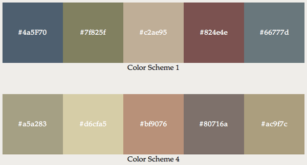 Natural Color Combinations