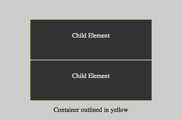 2 child elements vertically centered through equal top and bottom padding
