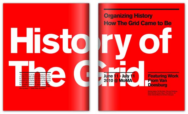 Concept cover for a show at the MoMA documenting the history of the grid