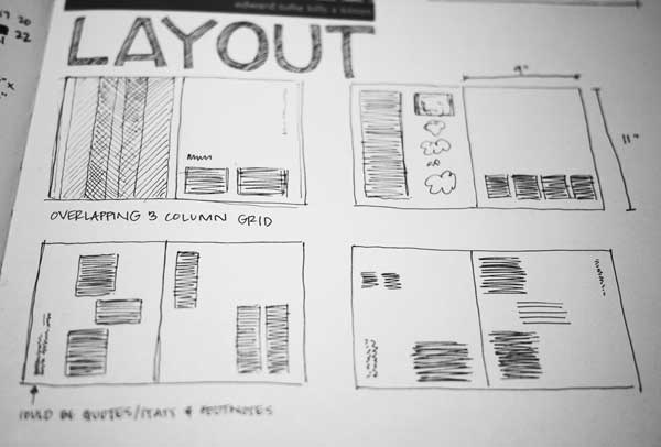 Layout sketches