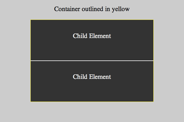 2 child elements centered vertically through positioning and negative margins