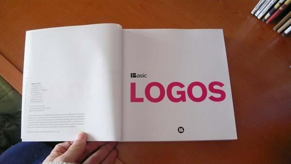 'Basic Logos' written in a book