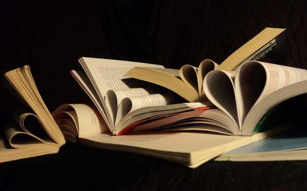 Several books open