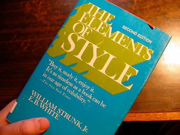 Book cover for The Elements of Style