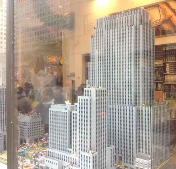 Lego version of Rockefeller Center