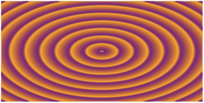 Repeating radial gradient
