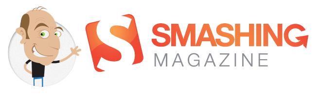 Vitaly Friedman cartoon with the Smashing Magazine logo
