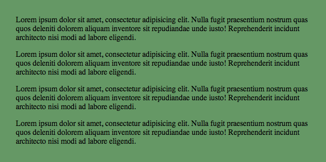 Example of div and text before clipping