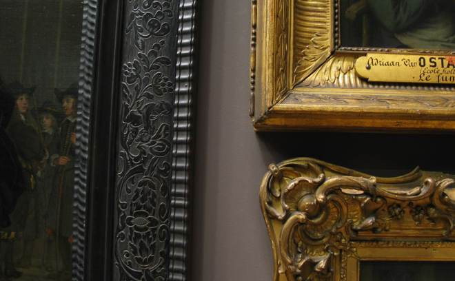 Closeup of picture frames