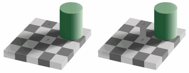 Chessboard Square Illusion